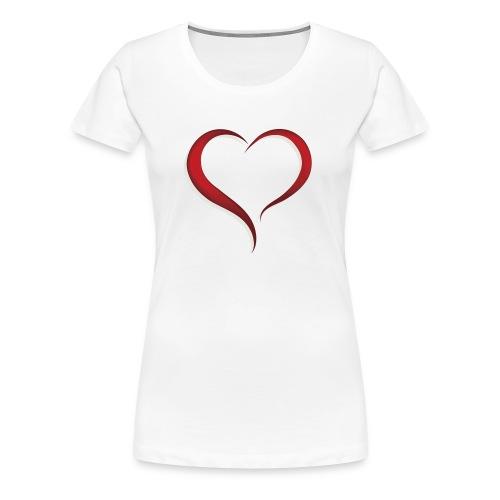 expressing love with a heart - Women's Premium T-Shirt