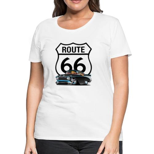 Route 66 Classic Car Nostalgia - Women's Premium T-Shirt