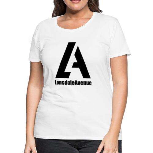 Lonsdale Avenue Logo Black Text - Women's Premium T-Shirt