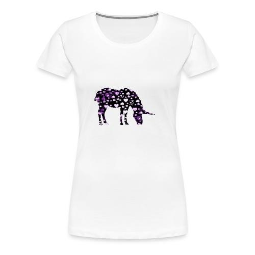 Unicorn Hearts purple - Women's Premium T-Shirt