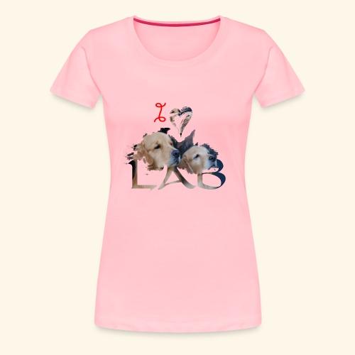 I love Lab - Women's Premium T-Shirt