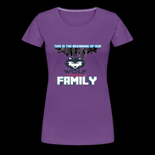 We Are Linked As One Big WolfPack Family - Women's Premium T-Shirt