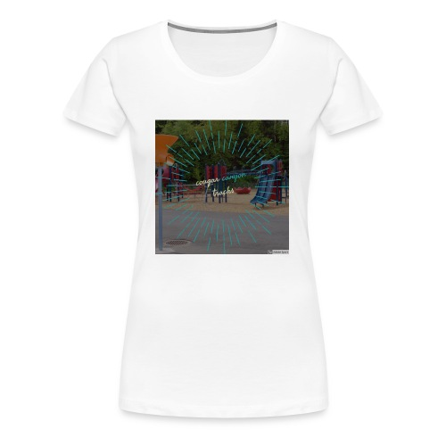t-shirt cougar canyon tracks - Women's Premium T-Shirt