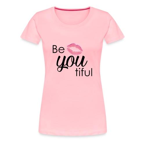 Be-You-Tiful Lip Logo - Women's Premium T-Shirt