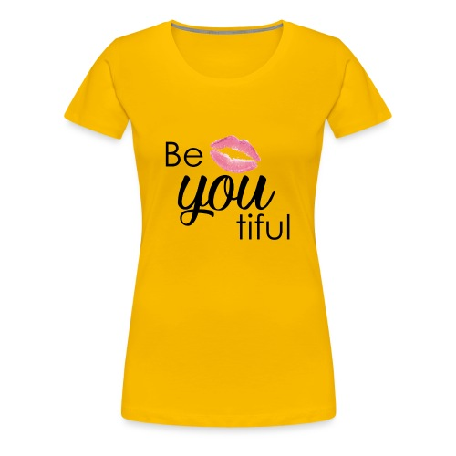 Be-You-Tiful Lip Logo - Women's Premium T-Shirt