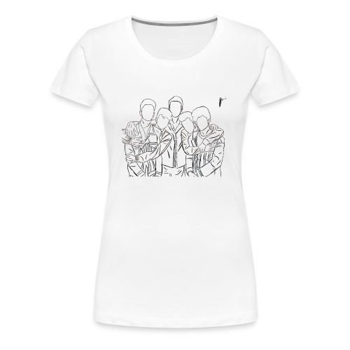 Why Dont We Outline In White - Women's Premium T-Shirt