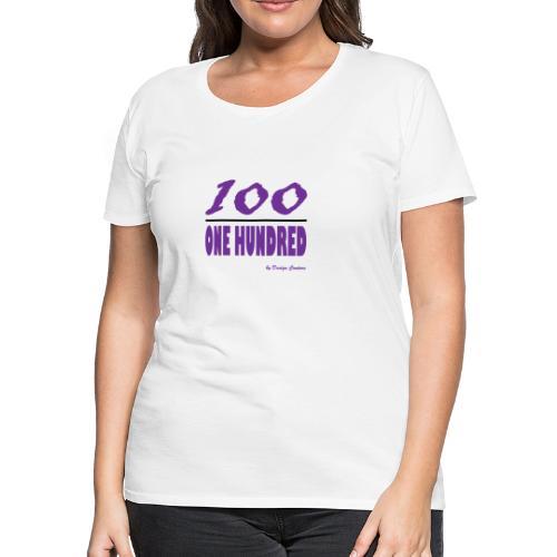 ONE HUNDRED PURPLE - Women's Premium T-Shirt