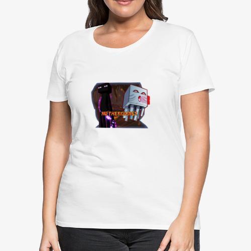 NetherGhast Mascot - Women's Premium T-Shirt