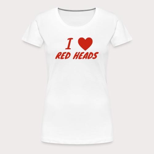 I HEART RED HEADS - Women's Premium T-Shirt