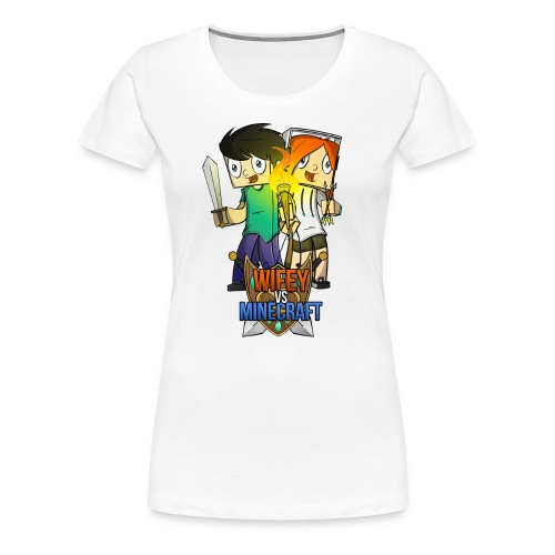 wife vs minecraft - Women's Premium T-Shirt