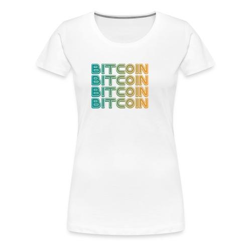 Bitcoin Art Deco Tshirt - Women's Premium T-Shirt