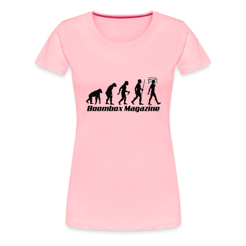 Evolution of Man Black - Women's Premium T-Shirt