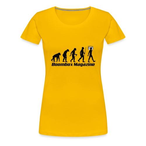Evolution of Man Black - Women's Premium T-Shirt