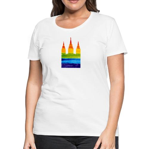 Mormon Gay Temple - Women's Premium T-Shirt