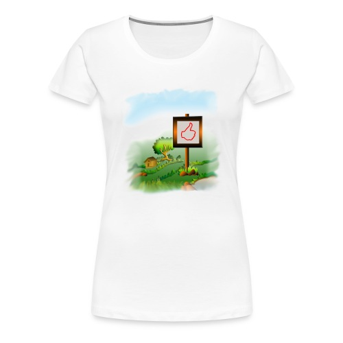 Super nature kids love like banner - Women's Premium T-Shirt