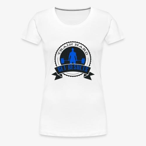 TRAIN HARD CLASSIC HOODIE - Gray & Blue - Women's Premium T-Shirt