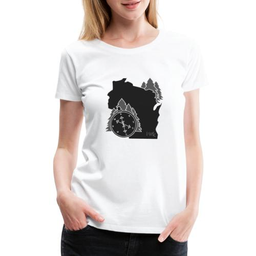 Black/White WI Logo - Women's Premium T-Shirt