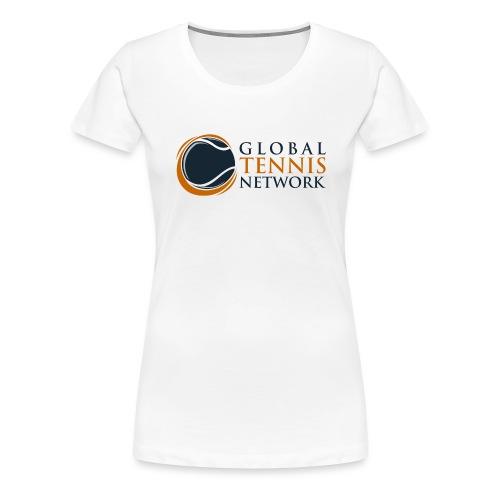 Global Tennis Network on White - Women's Premium T-Shirt
