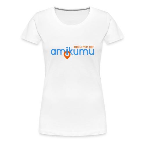 Kaptu min per Amikumu Blua - Women's Premium T-Shirt