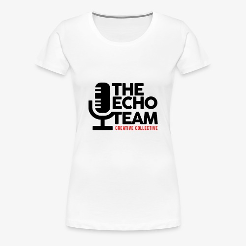 Echo Team Logo Black Letters - Women's Premium T-Shirt
