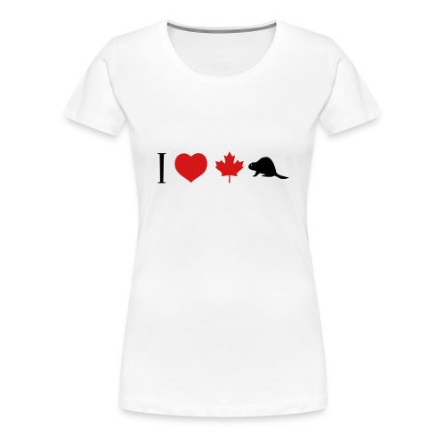 I Heart Canadian Beaver - Women's Premium T-Shirt