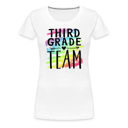 Third Grade Team Crayon Splash Teacher T-Shirts - Women's Premium T-Shirt