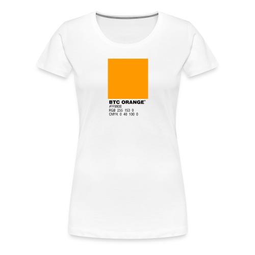 BTC Orange (Bitcoin Tshirt) - Women's Premium T-Shirt