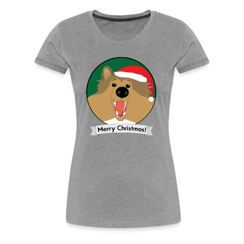 Holly the Collie Xmas - Women's Premium T-Shirt