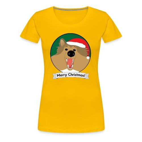 Holly the Collie Xmas - Women's Premium T-Shirt