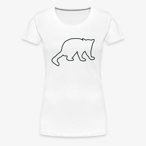 Sir John the Possum Black Outline - Women's Premium T-Shirt