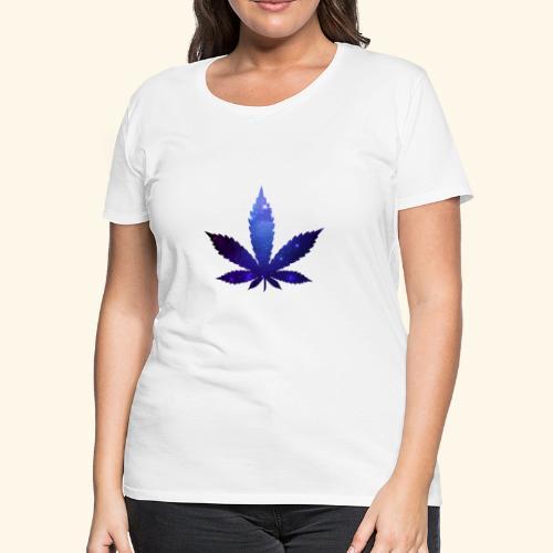 Cannabis Leaf - Galaxy - Weed - Women's Premium T-Shirt