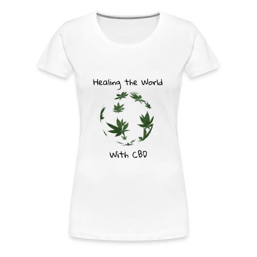 Healing the World with CBD - Women's Premium T-Shirt
