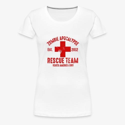 Zombie Rescue Halloween Shirt - Women's Premium T-Shirt