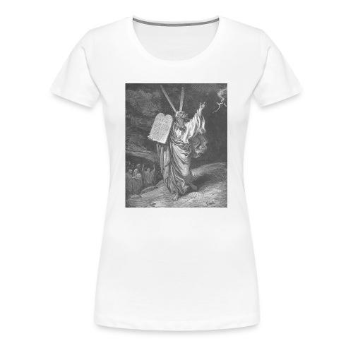 Moses brings the stone tablets - Women's Premium T-Shirt