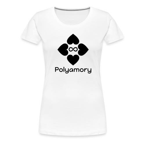polyamory w logo - Women's Premium T-Shirt