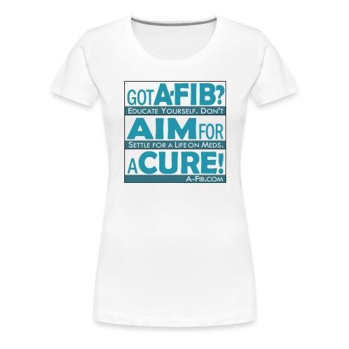 aim for a cure don t settle blue - Women's Premium T-Shirt