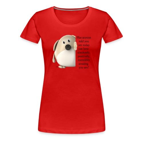 amazing dog (for light) - Women's Premium T-Shirt