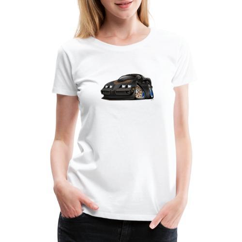 Classic American Black Muscle Car Cartoon - Women's Premium T-Shirt