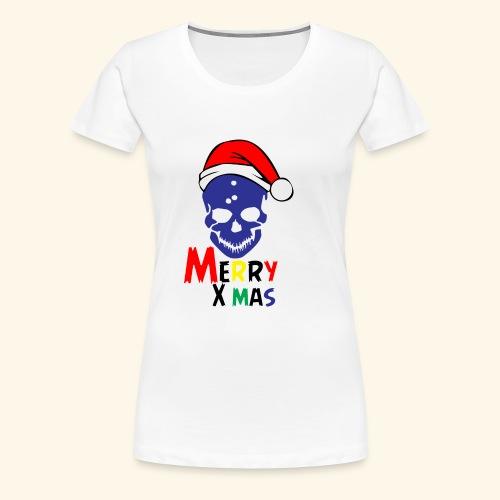 Merry Xmas Skul - Women's Premium T-Shirt