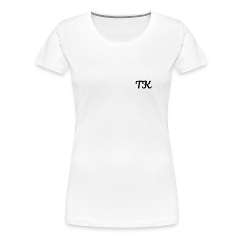 Thom Kenobi clothing TK initials in pacifico font - Women's Premium T-Shirt
