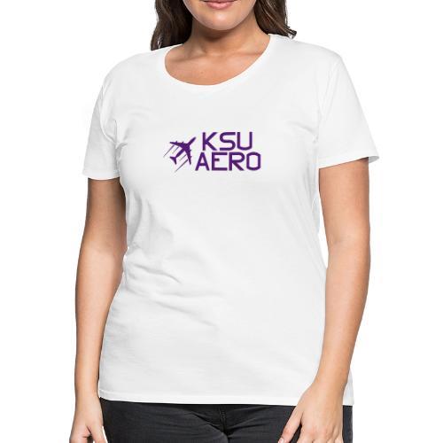 Logo Purple dark text - Women's Premium T-Shirt
