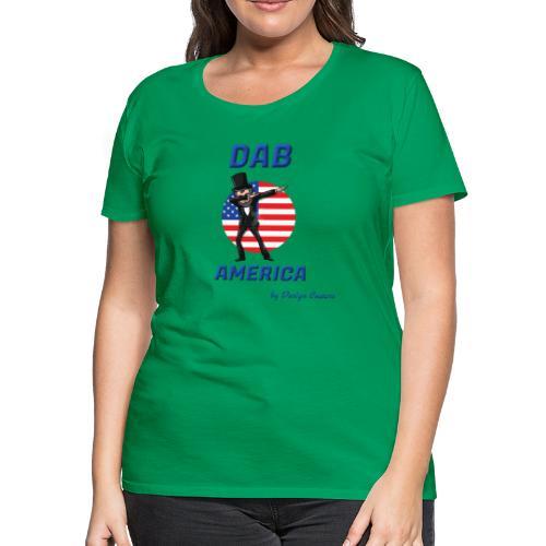 DAB AMERICA BLUE - Women's Premium T-Shirt
