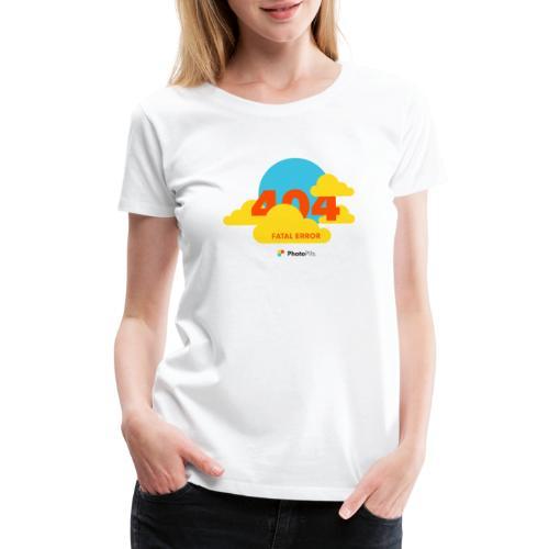 404 Fatal Error Moon Not Found - Women's Premium T-Shirt