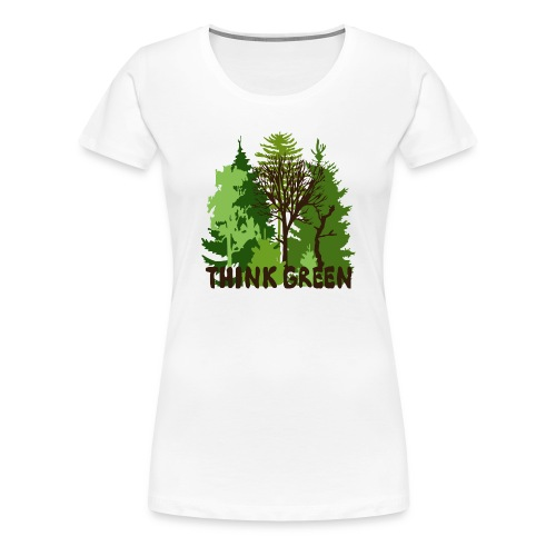 EARTHDAYCONTEST Earth Day Think Green forest trees - Women's Premium T-Shirt