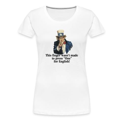 Uncle Sam - Finger - Women's Premium T-Shirt