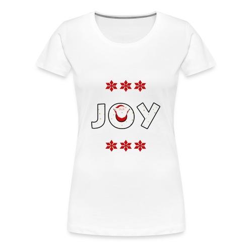 Christmas JOY Santa Clause Ugly Style - Women's Premium T-Shirt