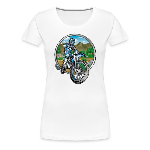 Supercross Motocross Shirt - Women's Premium T-Shirt