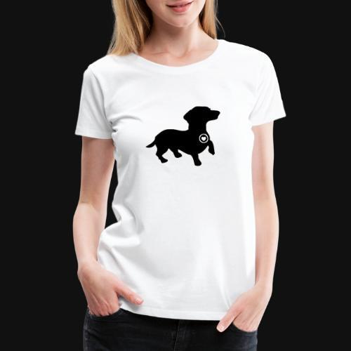 Dachshund love silhouette black - Women's Premium T-Shirt