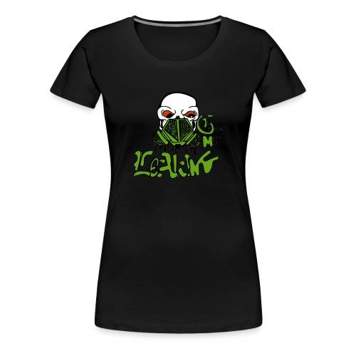 Leaking Gas Mask - Women's Premium T-Shirt
