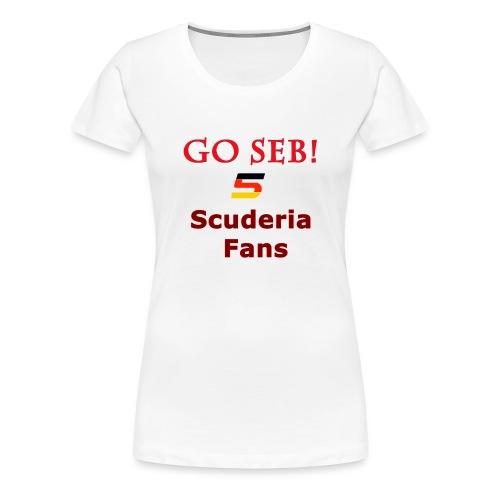 Go Seb! Scuderia Fans design - Women's Premium T-Shirt